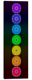 Canvas print  Open Chakra Lotus - Variation I - Dirk Czarnota