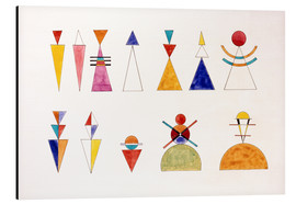 Aluminium print  Pictures at an Exhibition, figures - Wassily Kandinsky