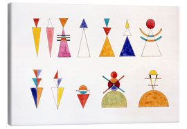 Canvas print  Pictures at an Exhibition, figures - Wassily Kandinsky