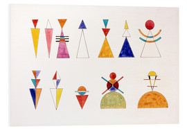 Foam board print  Pictures at an Exhibition, figures - Wassily Kandinsky