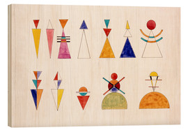 Wood print  Pictures at an Exhibition, figures - Wassily Kandinsky