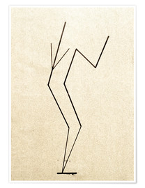 Poster  Analytical drawing after photos of dancing?.. - Wassily Kandinsky