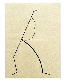 Poster Analytical drawing after photos of dancing?..