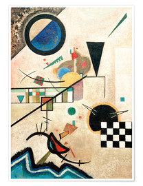 Poster  Contrasting sounds - Wassily Kandinsky