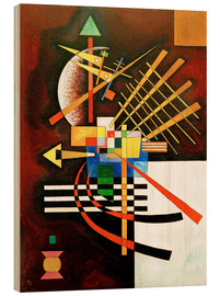 Wood print  Top and left - Wassily Kandinsky