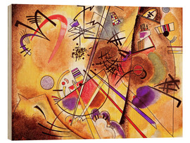 Wood print  Small dream in red - Wassily Kandinsky