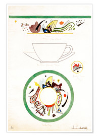 Premium poster Sketch for a cup and saucer