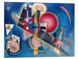 Foam board print  In the blue - Wassily Kandinsky