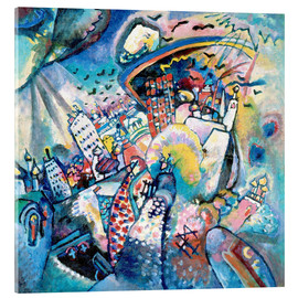 Acrylic print  Red square - Wassily Kandinsky