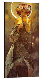 Aluminium print  The Moon - Alfons Mucha