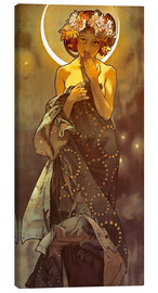 Canvas print  The moon - Alfons Mucha