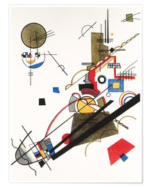 Premium poster  Happy ascent - Wassily Kandinsky