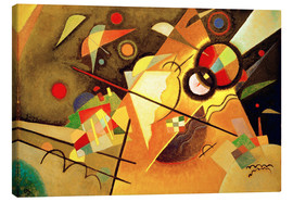 Canvas print  Yellow lace - Wassily Kandinsky
