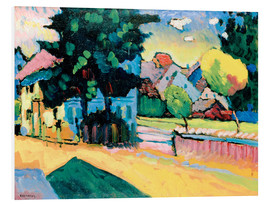 Foam board print  Murnau - Landscape with Green House - Wassily Kandinsky
