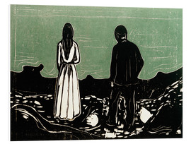 Foam board print  Two human Beings. The Lonely Ones - Edvard Munch