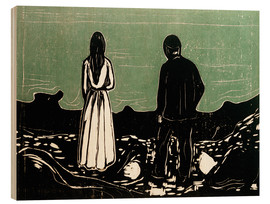 Wood  Two People (The Lonely Ones) - Edvard Munch