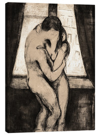 Canvas  The kiss - Edvard Munch