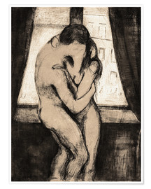 Premium poster  The kiss - Edvard Munch