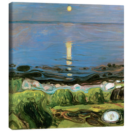 Canvas print  Summer night on the beach - Edvard Munch