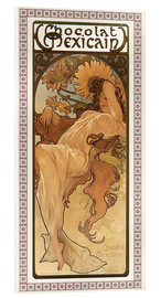 Acrylic glass  Chocolat Mexicain, Autumn - Alfons Mucha