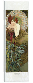 Canvas print  Emerald - Alfons Mucha