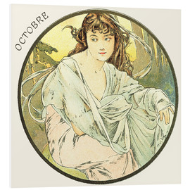 Forex  Les Mois - October - Alfons Mucha