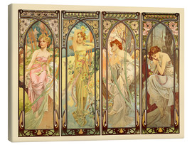 Canvas print  The Four Times of the Day - Alfons Mucha
