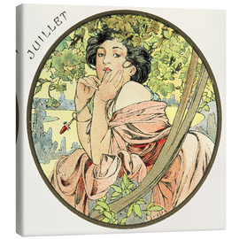 Canvas print  Les Mois - July - Alfons Mucha