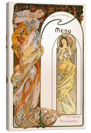 Canvas print  Moet & Chandon Menu orange - Alfons Mucha