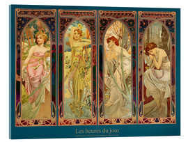 Acrylic print  Les heures du jour, nuit collage (French) - Alfons Mucha