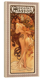 Wood print  Chocolat Masson, Summer - Alfons Mucha