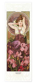 Premium poster  The Jewels - Amethyst - Alfons Mucha