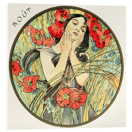 Acrylic glass  Les Mois - August - Alfons Mucha