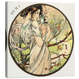 Canvas print  Les Mois - May - Alfons Mucha