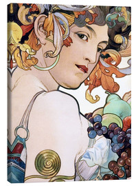 Canvas print  Fruit, detail I - Alfons Mucha