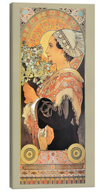Canvas  silver thistle - Alfons Mucha