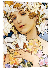 Acrylic glass  Flower, detail I - Alfons Mucha
