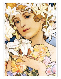 Poster  Flower, detail I - Alfons Mucha