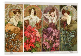 Acrylic glass  The precious stones - Alfons Mucha