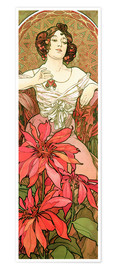 Poster  Ruby - Alfons Mucha