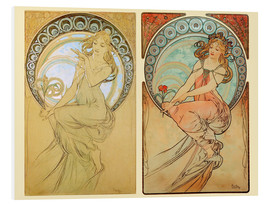 Alfons Mucha - The Four Arts, collage I