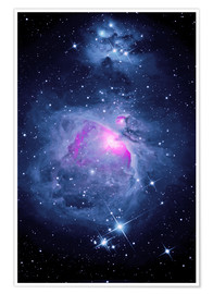 Premium poster Orion Nebula M 42 and Running Man Nebula