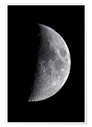 Premium poster waxing moon at 45 % visibility