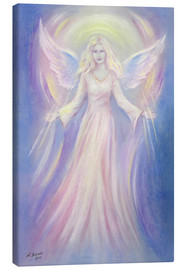 Canvas  Light and love - Angel painting - Marita Zacharias