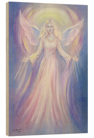 Wood  Light and love - Angel painting - Marita Zacharias