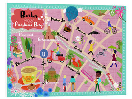 Foam board print  Colorful city map Berlin Prenzlauer Berg - Elisandra Sevenstar