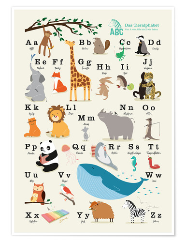 Poster animal alphabet (german)