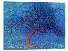 Wood  The Red Tree - Piet Mondrian