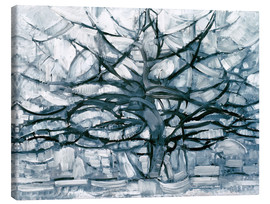 Canvas  Gray tree - Piet Mondrian
