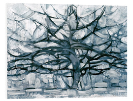Foam board print  Gray tree - Piet Mondriaan